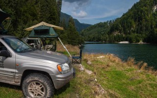 Camping on the Petrimani lake