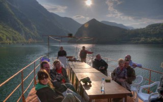 Starting the boat ride on Drina