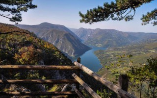 View from the famous Banjska stena viewpoint