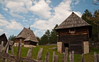 Typical western Serbian old houses