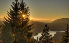 Sunset over Zaovine lake
