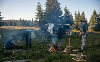 Camping on 1600 m in the Apuseni mountains