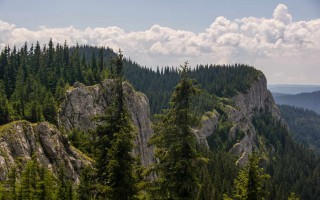 Piatra Alba (white rocks) in the Apuseni mountains