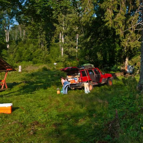 Our campsite in Ruska mountains