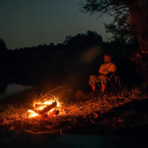 Camping on Vrmdža lake