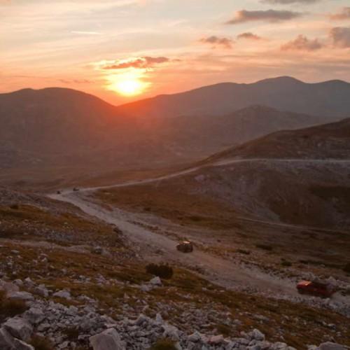 Sunset on the descent from Solunska glava