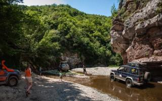 Through the Boljetin river canyon