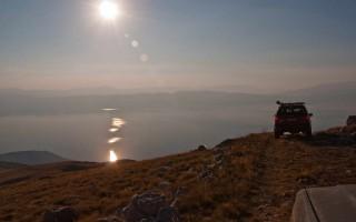 Descending from Galičica towards Ohrid lake