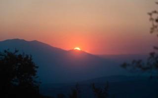 Sunset under Pelister