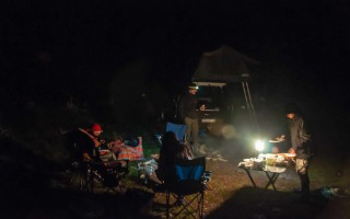 Camping on the old mountain