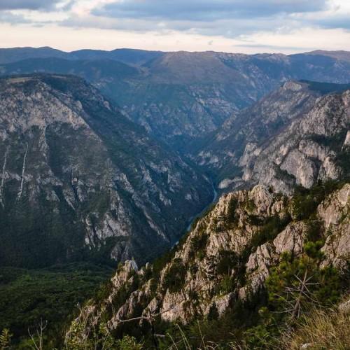 High above the Tara river canyon