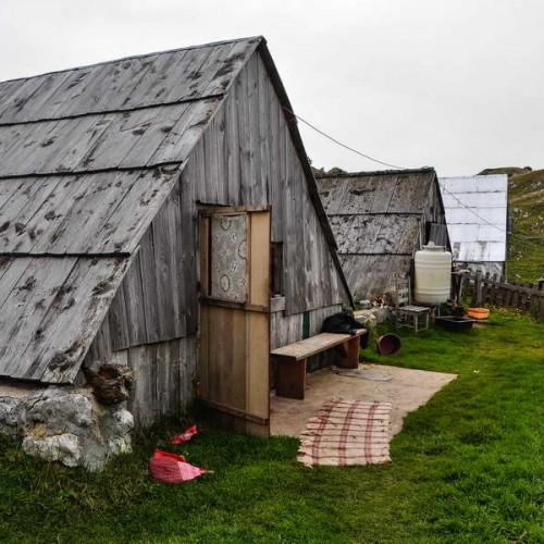 Typical Montenegrian shepherd's hut