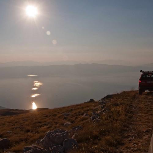 Above Ohrid lake