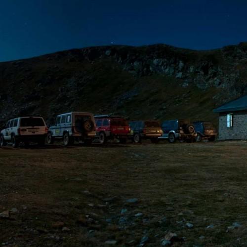 Parked by the mountaineering hut on Golemo Ezero