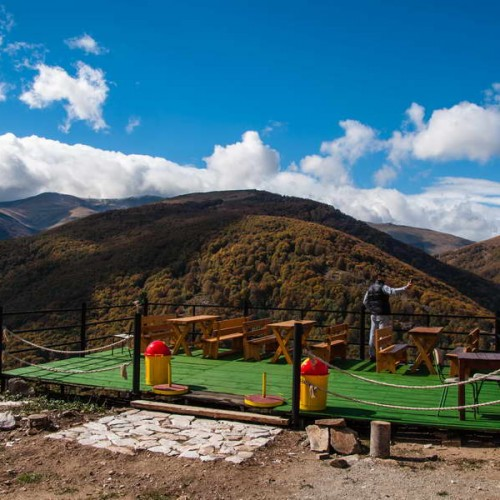 The scenic platform by the Karadžica hut