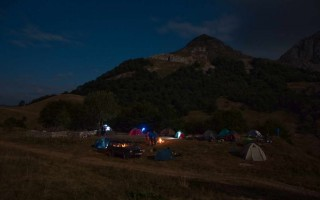 Camping on Zelengora's Orlovačko lake