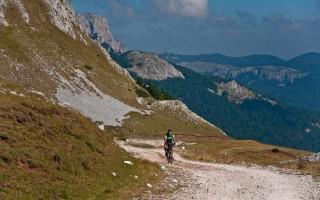 Approaching a pass on Zelengora