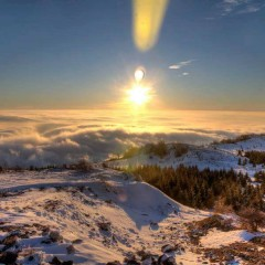 Winter view from top of Beljanica