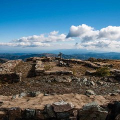Remains of an ancient church close to the highest peak of Kopaonik
