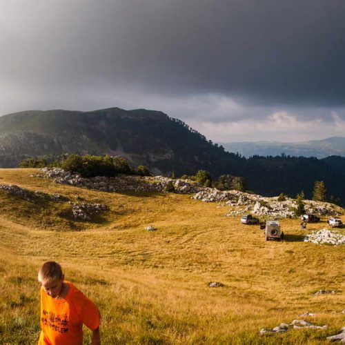Unreal Sinjajevina landscape - one of our beautiful wild campsites