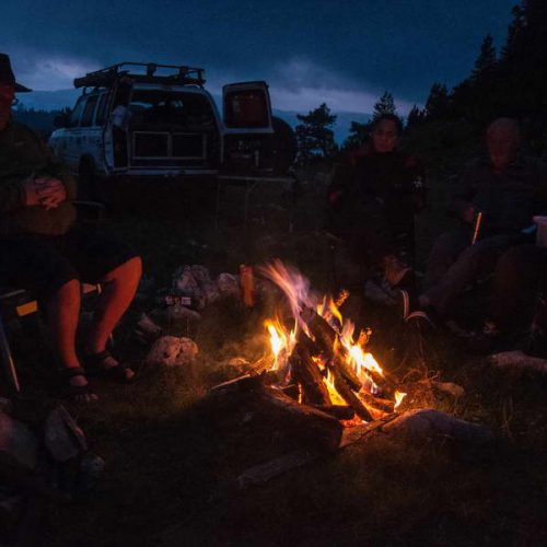 Evening by the campfire on Sinjajevina