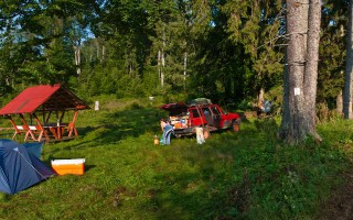 Camping in th Ruskai mountains