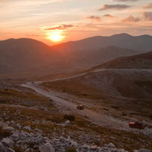 Sunset on the descent from Solunska glava