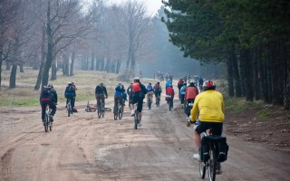 64 freebikers on Kučaj mountain in April 2010