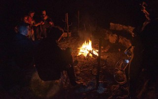 By the campfire near Rajko's cave, eastern Serbia