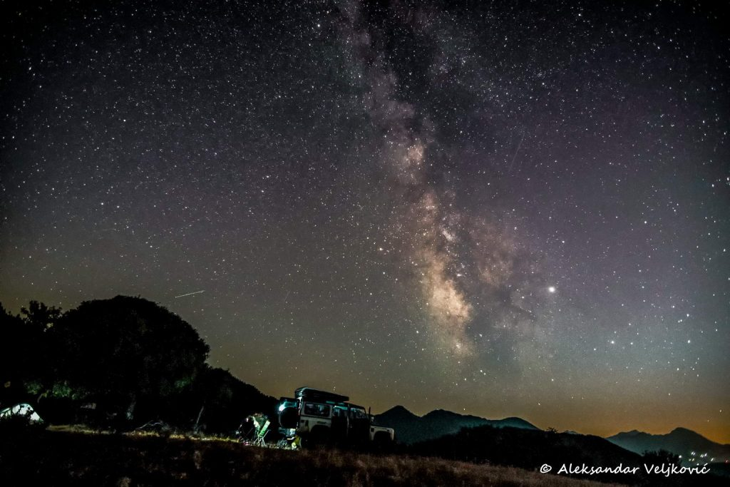 Offroad tour wild camping under the starry Balkan sky
